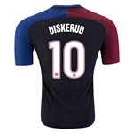 USA 2016 DISKERUD Authentic Away Soccer Jersey