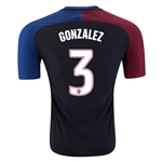 USA 2016 GONZALEZ Authentic Away Soccer Jersey