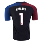 USA 2016 HOWARD Authentic Away Soccer Jersey