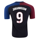 USA 2016 JOHANNSSON Authentic Away Soccer Jersey