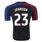 USA 2016 JOHNSON Authentic Away Soccer Jersey