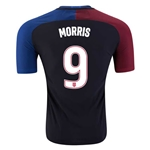 USA 2016 MORRIS Authentic Away Soccer Jersey