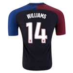 USA 2016 WILLIAMS Authentic Away Soccer Jersey