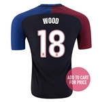 USA 2016 WOOD Authentic Away Soccer Jersey