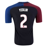 USA 2016 YEDLIN Authentic Away Soccer Jersey