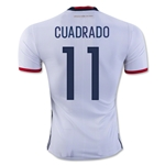 Colombia 2016 CUADRADO Authentic Home Soccer Jersey
