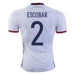 Colombia 2016 ESCOBAR Authentic Home Soccer Jersey