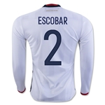 Colombia 2016 ESCOBAR LS Home Soccer Jersey