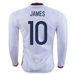 Colombia 2016 JAMES LS Home Soccer Jersey