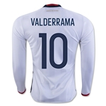 Colombia 2016 VALDERRAMA LS Home Soccer Jersey