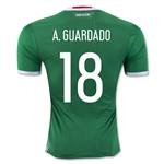 Mexico 2016 A. GUARDADO Authentic Home Soccer Jersey