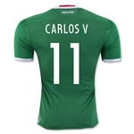 Mexico 2016 CARLOS V Authentic Home Soccer Jersey
