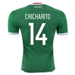 Mexico 2016 CHICHARITO Authentic Home Soccer Jersey