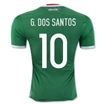 Mexico 2016 G. DOS SANTOS Authentic Home Soccer Jersey