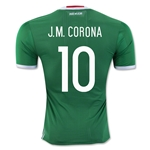 Mexico 2016 J.M. CORONA Authentic Home Soccer Jersey