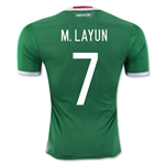 Mexico 2016 M. LAYUN Authentic Home Soccer Jersey