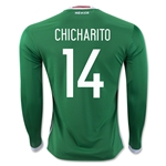 Mexico 2016 CHICHARITO LS Home Soccer Jersey