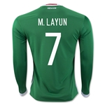Mexico 2016 M. LAYUN LS Home Soccer Jersey