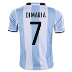 Argentina 2016 DI MARIA Youth Home Soccer Jersey