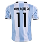 Argentina 2016 KUN AGUERO Youth Home Soccer Jersey