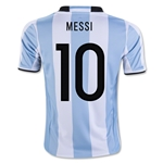 Argentina 2016 MESSI Youth Home Soccer Jersey