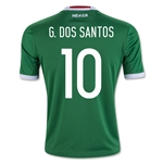 Mexico 2016 G. DOS SANTOS Youth Home Soccer Jersey