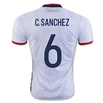 Colombia 2016 C. SANCHEZ Home Soccer Jersey