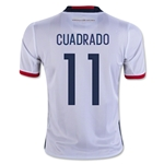 Colombia 2016 CUADRADO Youth Home Soccer Jersey
