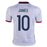 Colombia 2016 JAMES Youth Home Soccer Jersey