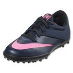 Nike Junior Mercurial X Pro TF (Midnight Navy/Pink Blast)