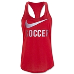 Nike Soccer Graphic Women's Tank (Red)