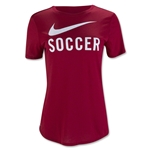 Nike Soccer Graphic Women's Top (Red)