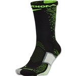 Nike Matchfit Elite Hypervenom Sock (Black/Lime)