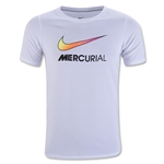 Nike Youth Mercurial Swoosh T-Shirt (White)