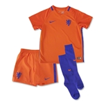 Netherlands 2016 Little Boys Home Soccer Kit