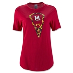 Under Armour Maryland Women's Tech T-Shirt (Red)