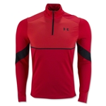 Under Armour Pitch 1/4 Zip LS Top (Red)