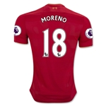 Liverpool 16/17 MORENO Home Soccer Jersey