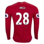 Liverpool 16/17 INGS LS Home Soccer Jersey