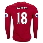 Liverpool 16/17 MORENO LS Home Soccer Jersey