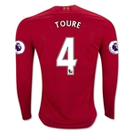 Liverpool 16/17 TOURE LS Home Soccer Jersey