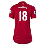 Liverpool 16/17 MORENO Women's Home Soccer Jersey