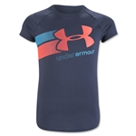 Under Armour Girls Fast Lane T-Shirt (Dk Gray)