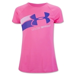 Under Armour Girls Fast Lane T-Shirt (Pink)