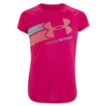 Under Armour Girls Fast Lane T-Shirt (Red)