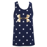 Under Armour Girls Stars of the USA Tank (Navy)