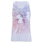 Under Armour Girls Shooting Star Big Logo Tank (White)