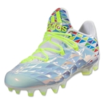 adidas Crazyquick Lax Low Cleats (White/Solar Yellow)