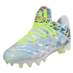 adidas Women's Crazyquick Lax Low Cleats (White/Solar Yellow)