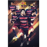 Barcelona Players Poster